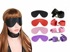 Sexy Fur Soft PU Leather Handcuffs and Blindfold Eye Mask Couple Game