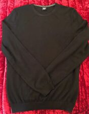 "Genuine Hugo Boss Black Slim Fit Wool Jumper Large L 39.5"" Chest"