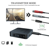 2 in 1 Bluetooth Adapter 3.5mm AUX RCA Wireless Audio Transmitter Receiver AU
