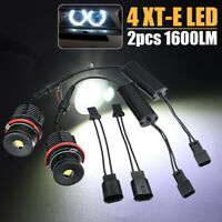 2x Error Free Angel Eyes LED Halo Ring Light Bulbs 80W For BMW E39 E53 E60  j E