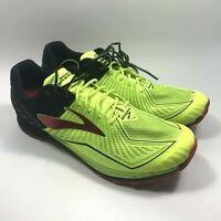 Brooks Mazama D Volt Black Red Men SZ 13 Trail Running Shoes Sneakers 1102351 D