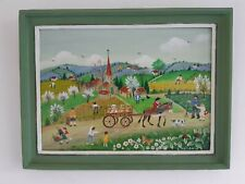 "Charlotte Julian - "" Le printemps en Provence "" - Art Naïf - Tableau original -"