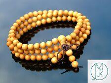Thuja Sutchuenensis Natural Wood Bracelet Elasticated Prayer Beads Tibetan