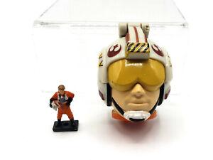🔥 RARE Star Wars Micro Machines LUKE SKYWALKER Mini Head Transforming Playset
