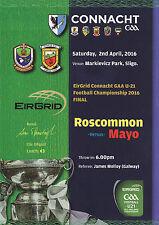 2016 GAA Roscommon v Mayo - U21 EirGrid Connacht Football Final Programme