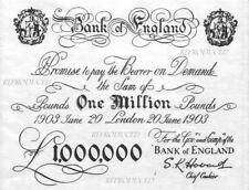 1903 £1,000,000 million pound note