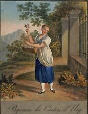 Schweiz Uri Trachtenblatt Kupferstich 1822 schönes dekoratives Original!