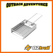 OZTRAIL JUMBO STAINLESS STEEL CAMPING FOLDING TOASTER CAMP COOKING