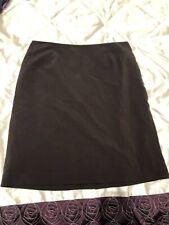 Ladies Brown Knee Length Work Office Tailoring Skirt Size 14 By Dressbarn