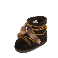 RRP €920 DSQUARED2 Leather Snow Boots Size 38-40 UK 5-7 US 8-10 Made in Italy
