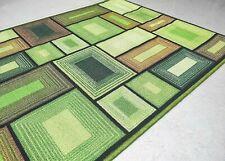 Green Blocks 3D Design Rugs for Bedroom Lounge Anti-slip Area Carpet 120 x 80 cm