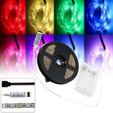 LED 5V RGB Strip Lights Multi-color LED Strip Waterproof Lamps With Battery Box