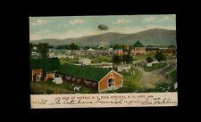 Oneonta New York USED postcard Dirigible Air Ship at Centeral NY Fair 1906 - R5