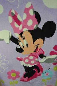 Disney Minnie Mouse Blanket Throw Pink Purple Floral Flowers Cloud Sherpa Lovey