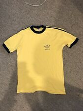 Adidas T Shirt T-Shirt soft Retro Vintage 3 Stripes rare Top jersey sleeve M/L L