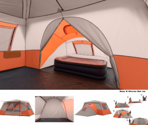 11 Person 3 Room Instant Cabin Tent Ozark Trail Outdoor Camping & Private Room