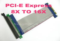 PCI-E Express Adapter Extender Cable 8X to 16X /x8 to x16 Riser Card For 1U 2U