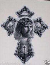 Jesus Cross Window or Wall Decal Decals Trailer Sticker church Art graphics