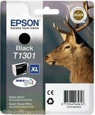 Epson T1301 T130 T-1301 1301 Negro Original Genuino Cartuchos De Tinta En Caja Iva Inc