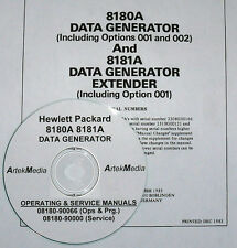HP 8180A / 8181A Data Generator & Extender, Ops-Programming & Service Manual