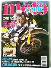 >n°222 MOTO VERTE; Dossier 2T ou 4T ?/ Honda Africa Twin/ Honda CR/ Kawa KH