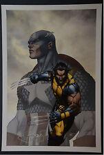 Wolverine Captain America Michael Turner Aspen Art Print
