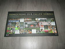 AFL 20 YEARS OF ANZAC RIVALRY COLLINGWOOD OFFICIAL LIMITED EDITION PRINT SWAN