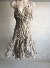 Woman's Anne-Valerie Hash grey poupidou dress old embroided