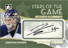 10/11 BETWEEN THE PIPES GOALIEGRAPH AUTOGRAPH AUTO JONATHAN BERNIER *43718