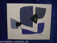 """Michael Feicht (geb. 1959 )""""Komposition mit blauen Flächen"""""""