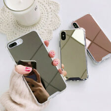 For iPhone 8 X 7 6S Plus XS Shockproof Armor Luxury Mirror Hard Back Case Cover