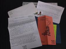 VINTAGE P.A.W. DIESEL - ERIC CLUTTON LITERATURE MISC PIECES   *VG-COND*