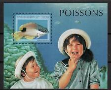 (W1216) BENIN, 1997, FISH, BL. 34, MNH/UM, SEE SCAN