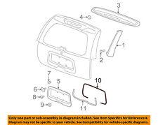 GM OEM Liftgate Tailgate-License Pocket Seal 19177141
