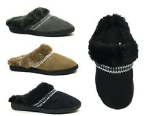 New Ladies' Classic Slipper Rubber Bottom Faux Fur Stylish Warm Comfortable-3022