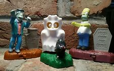 Burger King HOMER SIMPSON/PRINCIPAL SKINNER/LISA Halloween 2001 Kid Meal Toy Lot