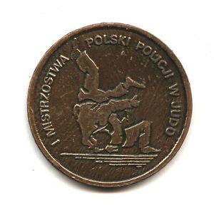 1st Polish Police Judo Championship medal Bydgoszcz 1993 Policja Polska