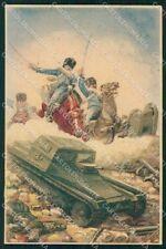 Militari Reggimentale Cavalleria Guide Monzambano 1934 cartolina XF6741
