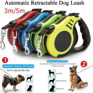 Automatic Retractable Dog Leash Long Walking Lead Ropes Chain Heavy Duty Outdoor