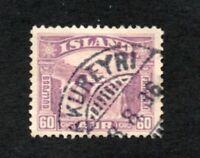 Iceland - Sc# 173 Used / AKUREYRI Town Cancel  /    Lot 112085