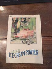 Rare 1920 Jell-O Ice Cream Powder Booklet