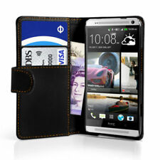 Black Wallet Leather Case Cover for HTC One Max + Screen Protector Film Kit New