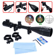 6-24x50AOEG Hunting Red Green illuminated Mil-Dot Optical Gun Rifle Scope +Mount