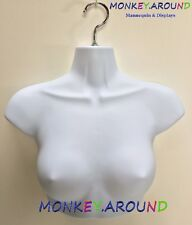 Female Mannequin Form + Hook,Trade Show Display Crop Dress Women Torso - White