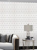 2 Geometric Print Black/White Wallpaper Sticker Wall Accent Contact Paper Sale