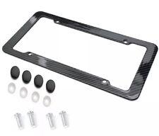 Carbon Fiber Plastic License Plate Frame -Quality Black Standard Fit