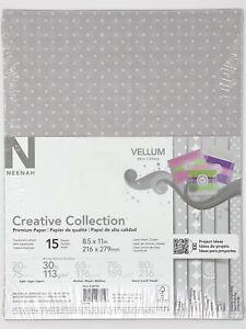 "Neenah Creative Collection Vellum Paper 25 Sheet 8.5x11"" #98792 8.5x11 30lb"