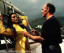 CAROLE BOUQUET ROGER MOORE JAMES BOND FOR YOUR EYES ONLY 8X10 PHOTO #H1197