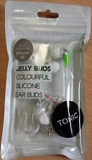 2 X TONIC JELLY EAR BUDS HEADPHONES SILICONE EARBUDS + MIC REMOTE IPHONE MOBILE