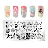 NICOLE DIARY Rectangle Nagel Schablone Stainless Steel Nail Stamp Template 079